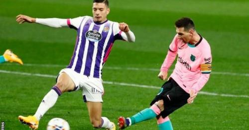Lionel Messi scored his 644th goal for Barcelona during his side's victory over Real Valladolid to break Pele's record of the most goals for one club.