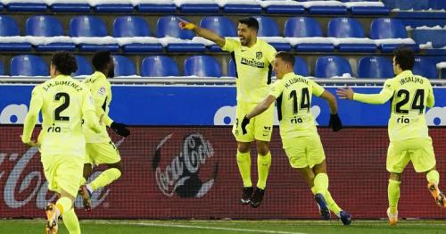 Suarez sinks Alaves to take Atletico top in La Liga