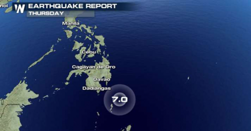 Strong earthquake rocks Philippines