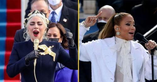 Lady Gaga and Jennifer Lopez perform at the inauguration