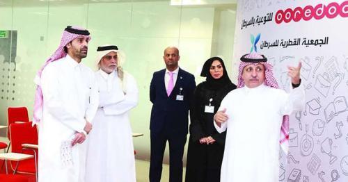 Ooredoo officials visit Qatar Cancer Society