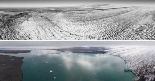 Now and then - Iceland's vanishing glaciers