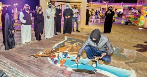 Fine Arts Group showcase their creativity with artistic paintings at Al Khor's Halitan Market Square