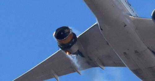 Debris falls from United Airlines plane during emergency landing near Denver