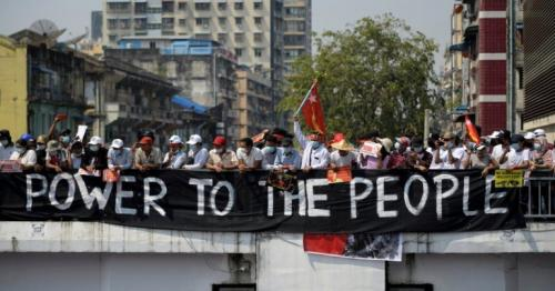 Myanmar coup - Protesters defy military warning in mass strike