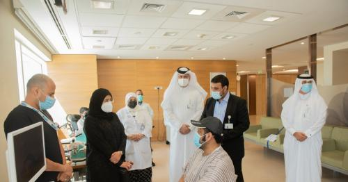 Health Minister Visits Post-COVID Inpatient Unit Inside Qatar Rehabilitation Institute and Speaks with Patients recovering from COVID-19