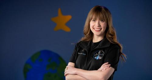 As a child, she beat bone cancer. Now she's headed into space.