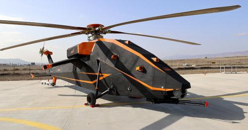 Turkey's unmanned attack helicopter exhibited for first time