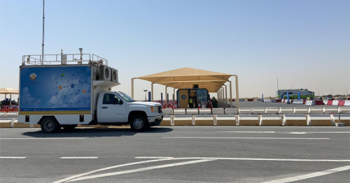 Mobile Air Quality Monitoring Station Moved to COVID-19 Drive-Through Vaccination Centre in Lusail