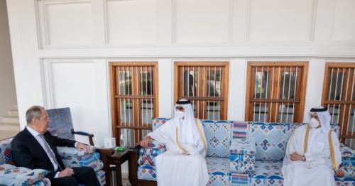 HH the Amir meets Russian FM at the Amiri Diwan