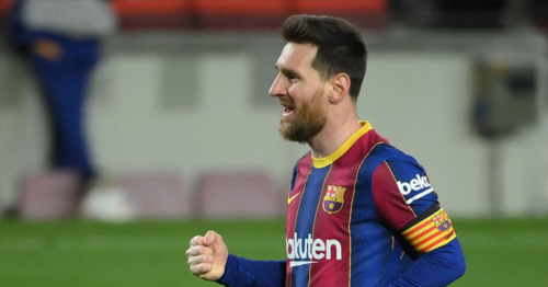 Messi double leads Barca to within four points of La Liga summit