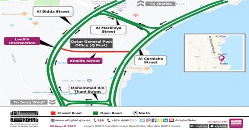Ashghal: Traffic on Khalifa street closes temporarily