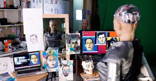 NFT artwork by humanoid robot sells at auction for nearly $700,000