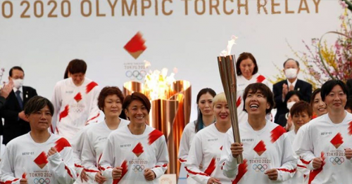 One year late, Tokyo Olympics torch relay gets up and running