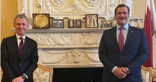 Qatar's Ambassador Meets Deputy Speaker of British House of Commons
