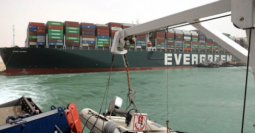 Suez Canal Fresh effort to refloat wedged container ship