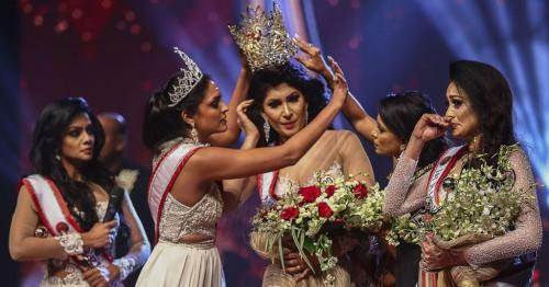 'Mrs Sri Lanka' beauty queen injured in on-stage bust-up