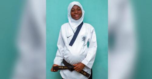 Eight months pregnant athlete clinches Taekwondo gold medal