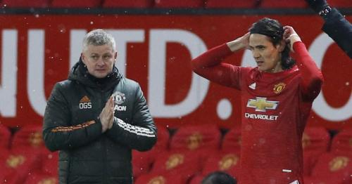 Solskjaer says Cavani still undecided on Man Utd future