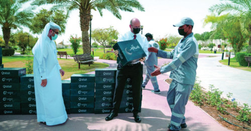 Festival City Donates 1000 boxes of essential Ramadan food supplies to workers and low-income families in partnership with Qatar Charity