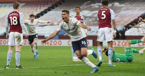 Man City close on Premier League title with 2-1 win at Villa