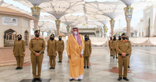99 women security personnel deployed at Prophet's Mosque serving worshipers during Ramadan