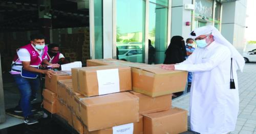 QC and QAD provides food to families affected by pandemic