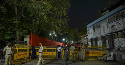 Police protect empty stadium as IPL arrives in India's virus-hit capital