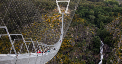 Worlds longest pedestrian suspension bridge opens in Portugal