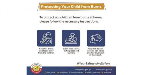 MoI advises on protecting children from burns
