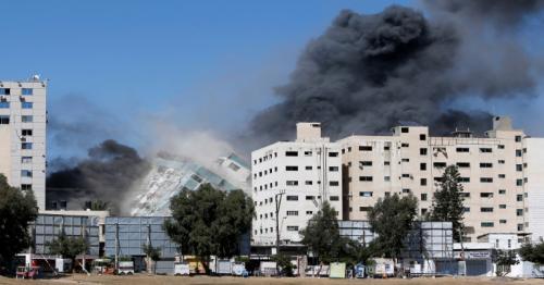 Israeli terror towers over Al Jazeera in Gaza
