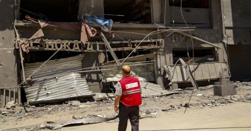 QRCS, IFRC Discuss Large-Scale Destruction in Gaza Strip