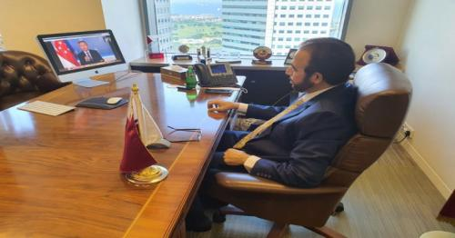 Qatar Envoy takes part in virtual opening sessions at Singapore