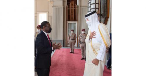 HH the Amir meets President of Equatorial Guinea