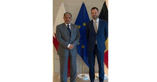 EU Special Envoy for Afghanistan meets Qatar's Ambassador to Belgium