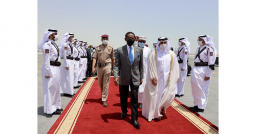 President of Guinea leaves Doha after official visit