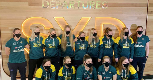 Australian softball team first to arrive in Japan for Olympics