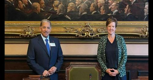 Head of the Foreign Affairs Committee of the Belgian Parliament Meets Qatari Ambassador