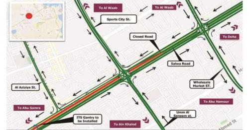Ashghal announces temporary traffic closure on Salwa Road