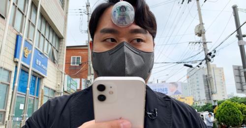 S.Korean designer creates ''Third Eye'' for ''smartphone zombies''