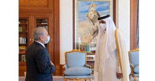 HH the Amir meets Prime Minister of Palestine