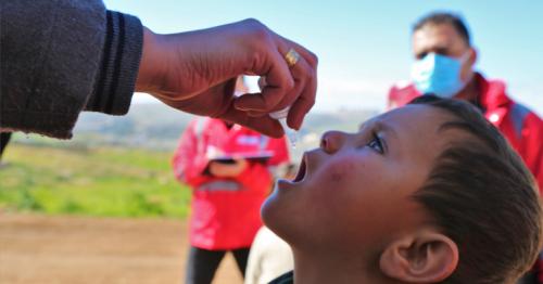 QRCS supervises WHO polio vaccination for Syria children