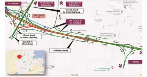 Ashghal announces temporary closure on Dukhan road intersection