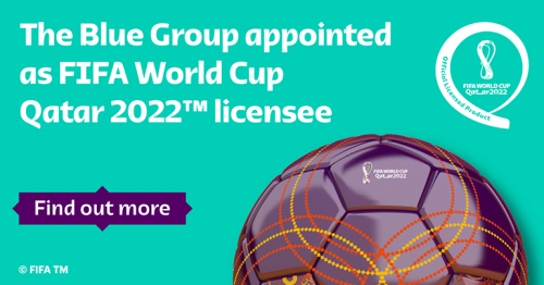 The Blue Group appointed as FIFA World Cup Qatar 2022™ Apparel and Accessories licensee.