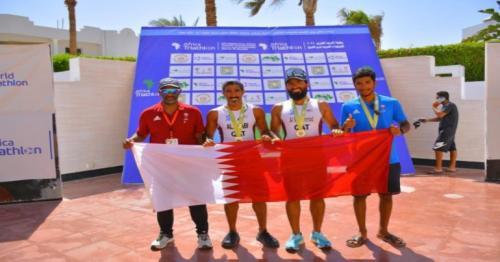 Qatari triathlon team wins gold and silver in Arab Championship