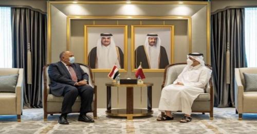 Deputy PM and FM meets Egypt's FM
