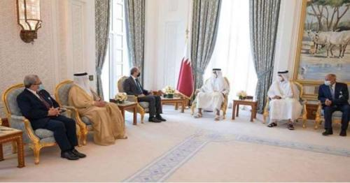 HH the Amir meets Secretary-General of Arab League, Arab foreign ministers