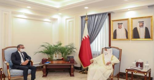 Speaker of Shura Council Meets President of Inter-Parliamentary Union