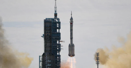 Shenzhou-12: China launches first crew to new space station