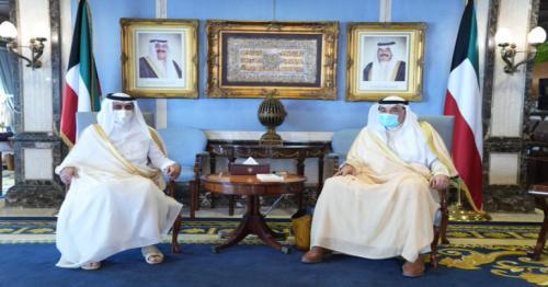 Kuwait PM meets Ambassador of Qatar